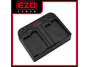 EZOPower LP-E8 / LPE8 Dual Battery Charger with Car Adpater EZCDC12 for Canon EOS Rebel T2i T3i T4i T5i Digital SLR Cameras