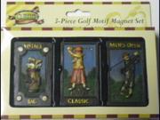 Wonderful Golf 3 Piece Magnet Set Great Gift Item! 9SIAD245DS5936