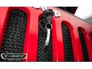 T-rex Jeep Wrangler Sport Mesh Grille with Chrysler or Bolt Hood Lock 46482