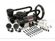 Viair Dual Stealth Black 480C Value Pack (200 PSI, 480C/2, 165/200 P. Switch, 40 Amp Relay/2, Fuse Holder) 48042