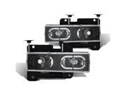CG CHEVY FULLSIZE 88-98 CRYSTAL HEADLIGHT BLACK 02-AZ-CF88-JM-RIM PAIR