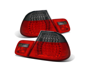 CG BMW 3 SERIES E46 99-01 2 DR L.E.D TAILLIGHT RED/SMOKE 4PCS 03-B399TLED2DRS PAIR