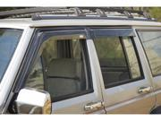Rugged Ridge 11351.20 Window Rain Deflectors, 84-01 Jeep Cherokee XJ