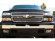 T-REX 2006-2006 Chevrolet Silverado 2500HD, 3500 (All 2006 Models) X-METAL Series - Studded Main Grille - ALL Black - 2 Pc Style BLACK 6711061
