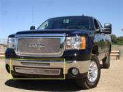 T-REX 2007-2011 GMC Sierra 1500 & 07-10 HD Upper Class Polished Stainless Bumper Mesh Grille - 2 PC (Includes Top bumper mesh and air dam grille) POLISHED 55206