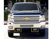 T-REX 2011-2012 Chevrolet Silverado HD Bumper Tow Hook Billet Grilles - 2 Pc POLISHED 25115