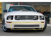 T-REX 2005-2009 Ford Mustang GT Models Upper Class Polished Stainless Bumper Mesh Grille - With Formed Mesh Center POLISHED 55516