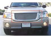 T-REX 2002-2009 GMC Envoy (Except Denali) Billet Grille Overlay/Bolt On - OE Logo Mounts on Billet (23 Bars) POLISHED 21385