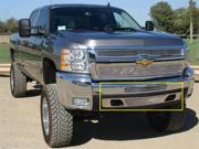 T-REX 2007-2012 Chevrolet Silverado 1500 & 07-10 HD Upper Class Polished Stainless Bumper Mesh Grille - 2 PC (55112
