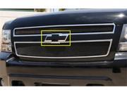 T REX 1999 2006 Chevrolet Suburban Tahoe 99 02 Silverado Billet Bowtie w Border All Black BLACK 19076B