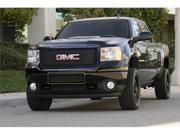 T-REX 2011-2012 GMC Sierra 2500HD, 3500 Upper Class Polished Stainless Bumper Mesh Grille - Top steel bumper opening - All Black (Mesh Only - No Frame) BLACK 52209