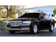 T-REX 2011-2011 Chrysler 300 without Adaptive Cruise Upper Class Polished Stainless Bumper Mesh Grilles - 2 Pc - Will not fit vehicles with Adaptive Cruise POLISHED 55434