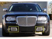 T-REX 2005-2010 Chrysler 300C (Only) Upper Class Polished Stainless Bumper Mesh Grille - 300C Only - With Formed Mesh Center POLISHED 55471