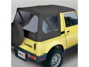 Rugged Ridge 53721.15 XHD Soft Top, Black Denim, Clear Windows, 81-98 Suzuki Samurais