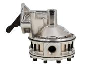 TSP SB Chevy 6 Valve Mechanical Race Pump - 130GPH Fuel Pump Silver JM1037C