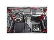 Rugged Ridge 11151.90 Interior Trim Accent Kit, Brushed Silver, 07-10 Jeep Wrangler JK