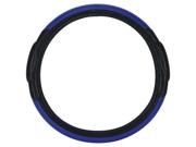 Pilot Racing Style Steering Wheel Cover, Blue / Black SW-68B