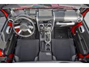 Rugged Ridge 11151.93 Interior Trim Accent Kit, Brushed Silver, 07-10 Jeep Wrangler JK