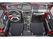 Rugged Ridge 11151.96 Interior Trim Kit, Brushed Silver, 07-10 Jeep Wrangler Unlimited JK