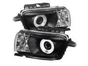 Spyder Auto Chevy Camaro 10-12 Dual CCFL Halo Projector Headlights - Black PRO-YD-CCAM2010-CCFL-BK 9SIA08C14F7845