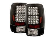 Spyder Auto Chevy Suburban Tahoe 1500 2500 00 06 GMC Yukon Yukon XL 00 06 GMC Yukon Denali Denali XL 01 06 Lift Gate Style Only LED Tail Lights Black