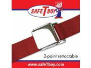 Safe Tboy 2pt Burgundy Retractable Airplane buckle - Each STBSB2RABG