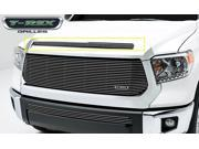 T-Rex Billet Grille, Hood, Overlay, 1 Pc, Polished Face, Black Powdercoated Aluminum Bars 21964