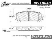 Centric Disc Brake Pad 309.10040