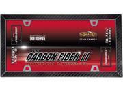 Cruiser Accessories 58098 Carbon Fiber II License Plate Frame - Carbon Fiber And Black Chrome