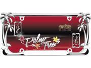 Image of Cruiser Accessories 19003 Palm Tree License Plate Frame, Chrome