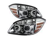 Spyder Auto Chevy Cobalt 05-10 / Pontiac G5 07-09 / Pontiac Pursuit 05-06 Halo Projector Headlights - Chrome 9027772 9SIA08C57E3297