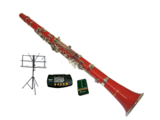 Merano B Flat RED Clarinet with Carrying Case