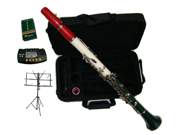 Merano B Flat Clarinet with Case - Triple color on one