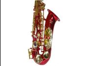 Merano E Flat Red Alto Saxophone with Case