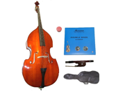Merano MB10 1/8 Size Natural Student Double Bass with Carrying Soft Bag, Bow+2 Sets Strings+Rosin