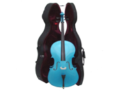 Merano MC150MBL 4/4 Size Blue Cello with Hard Case, Bag and Bow