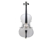 Merano MC100WT 4/4 Size White Cello with Bag and Bow
