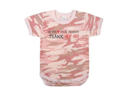 """Infant One Piece """"Thank My Dad"""" - Baby Pink Camo"""