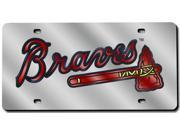 Atlanta Braves Laser Cut Silver License Plate