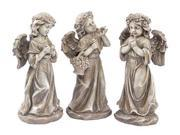 Set of 3 Inspirational Statuary Standing Angel Outdoor Garden Statues 13