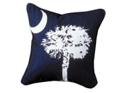 "South Carolina Palmetto State Flag Decorative Throw Pillow 17"" x 17"""