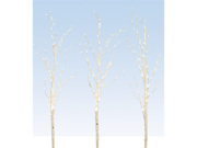 """3 LED Lighted Enchanted Garden Artificial Standing Birch Branches 56"""" - Warm Wht"""