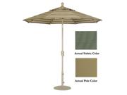 9' Crank Tilt Patio Market Umbrella - Champagne(Stone Green)