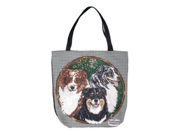"""Australian Shepherd Dogs Shopping Tote Bag 17"""" x 17"""""""