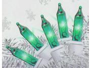 Set of 140 Spring Green Everglow Chasing Mini Christmas Lights - White Wire