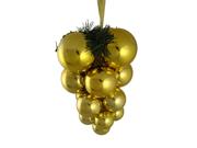 "Shiny Gold Shatterproof Christmas Ball Ornament Grape Cluster Decoration 10"""
