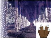 2' x 8' Cool White LED Net Style Tree Trunk Wrap Christmas Lights - Brown Wire