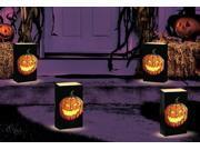 "Club Pack of 24 Jack O'Lantern Design Halloween Luminaria Bags 11"""