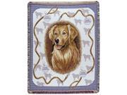 """Golden Retriever Dog Tapestry Throw By Artist Pat Lehmkuhl 50"""" x 60"""""""
