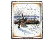 """Religious """"Amazing Grace"""" Winter Church Woven Afghan Throw Blanket 50"""" x 60"""""""